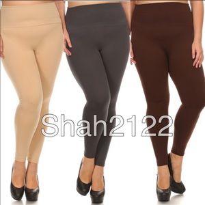 Pants - Plus OS high waist fleece lined leggings.